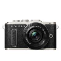 Digitale fotocameras - Olympus E-PL8 Pancake Zoom Kit Zwart + EZ-M1442EZ Zwart - V205082BE000