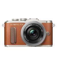 Digitale fotocameras - Olympus E-PL8 Pancake Zoom Kit brown + EZ-M1442EZ Zilver - V205082NE000