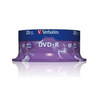 Mobiele telefoons acc. - Wentronic Verbatim DataLifePlus - 25 x DVD+R - 4.7 GB 16x - spindel - 43500
