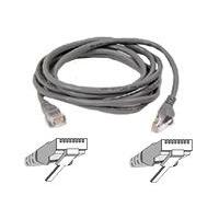 Netwerk kabels - Belkin Cable/patch CAT5 RJ45 snagless 30m grey - A3L791B30M-S
