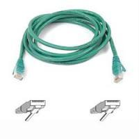 Netwerk kabels - Belkin GRN CAT5E SNAGLESS PATCH CABLE - A3L791B03M-GRNS