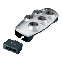 Surge protectors - Eaton Protection Box 5 Tel@+TV - Overspanningsbeveiliger - AC 220-250 V - 2300 Watt - uitgangen: 5 - 66936