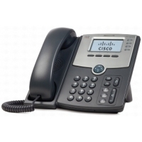 Telefoon - Cisco Small Business SPA 504G - VoIP-telefoon - SIP, SIP v2, SPCP - multiline - zilver, donkergrijs - voor Small Business Pro Unified Communications 320 met 4 FXO - SPA504G