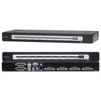 KVM switches - Belkin OmniView PRO3 USB & PS/2 16-Port KVM Switch - KVM-schakelaar - 16 x KVM port(s) - desktop - F1DA116ZEA