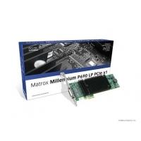 VGA kaarten - Matrox Millenium P690 128MB PCIe x1 Low Profile 2xDVI-I - 1920x1200(digital)/2048x1536(analog) fanless 9.5W - P69-MDDE128LA1F