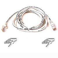 Kabels - Belkin Cable/patch CAT5 RJ45 snagless 0.5mWhite - A3L791B50CM-WHS