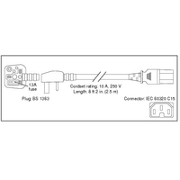 Elektriciteitssnoeren - Cisco 7500 Series AC Power Cord, Engels (UK) - CAB-7KACU=