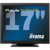 Touch screen monitoren - iiyama ProLite T1731SR, 43.2 cm (17), zwart touch monitor (5:4), 43.2 cm (17), resistieve (5-draads), 1280x1024 pixels, 5ms, helderheid: 200cd, kijkhoek: 170/160°(H/V), contrast: 900:1, DVI, touch interface: USB, RS232, incl.: kabel (USB, RS232, DVI, Audio), net - T1731SR-B1