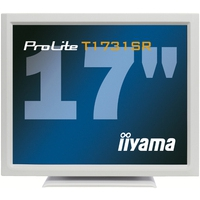 Touch screen monitoren - iiyama ProLite T1731SR, 43.2 cm (17), wit touch monitor (5:4), 43.2 cm (17), resistieve (5-draads), 1280x1024 pixels, 5ms, helderheid: 200cd, kijkhoek: 170/160°(H/V), contrast: 900:1, DVI, touch interface: USB, RS232, incl.: kabel (USB, RS232, DVI, Audio), netsn - T1731SR-W1