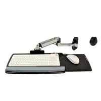 Notebookarmen en steunen  - Ergotron LX Wall Mount Keyboard Arm - Bevestigingsarm voor plateau toetsenbord/muis - monteerbaar aan muur - gepolijst aluminium - 45-246-026