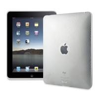 Tablet PC - Muvit iPad 1 Minigel Case, white White transparent Wave pattern - MUCLP0004