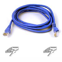 Kabels - Belkin High Performance - Verbindingskabel - RJ-45 (M) naar RJ-45 (M) - 5 m - UTP - CAT 6 - gevormd, zonder haken - blauw - voor Omniview SMB 1x16, SMB 1x8  OmniView SMB CAT5 KVM Switch - A3L980B05M-BLUS