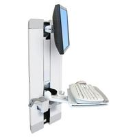 """Foto- en videocamera acc. - Exotique Ergotron StyleView Vertical Lift, Patient Room - Bevestigingskit (plank voor toetsenbord, polssteun, muisetui, paneel verticale lift) voor lcd-scherm / toetsenbord / muis - staal - wit - schermgrootte: 24"""" - 60-609-216"""