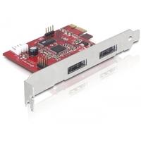 Joysticks en gamepads - Inland PCI Express Card > 2x Power Over eSATA 5V/12V DeLOCK PCI Express eSATApd 2x 5V/12V RAID, 2x eSATA/USB combo 36 maanden garantie - 89233
