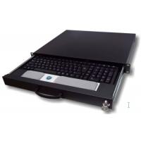 "Rack monitor consoles - aixcase Rack keyboard shelf black, 19"" - AIX-19K1U-B"