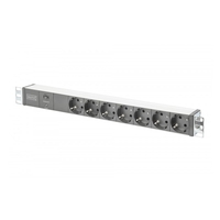 Surge protectors - Digitus DGTS ALUMNUM OUTLET STRIPWITH OVERLOAD P - DN-95403