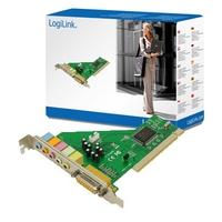 Geluidskaarten - LogiLink PCI 6-Kanal met Dolby 5.1 u - PC0027B