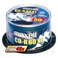 CD(R)W, DVD(R)W en blu-Ray - Maxell CD-R 80 XL 700MB 52X 100PCS CB Zilver,Cakebox - 100 pcs - 624841