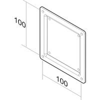 Monitor en TV acc. - Newstar VESA PLATE 100 X 100 MM Zwart - FPMA-VESA100